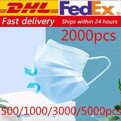 Одноразовая маска для лица, 500/800/1000/2000/5000 шт., Антивирусная маска для защиты от гриппа, маска для защиты лица, маска для рта