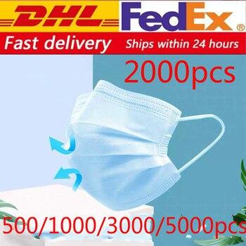 Envío gratuito con dhl desechable antivirus antigripal, máscara de seguridad para la boca, 500/800/1000/2000/5000 Uds.