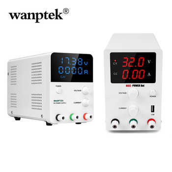 Wanptek DC Power Supply Adjustable Laboratory Voltage Regulator Bench Source Digital Power 30V 60V 5A 10A Output drop shipping - DISCOUNT ITEM  50% OFF All Category