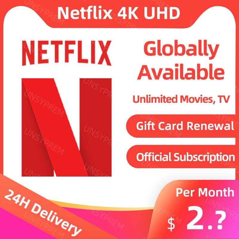 Netflix 1 month 1 screen 4K  za $2.99 / ~11zł