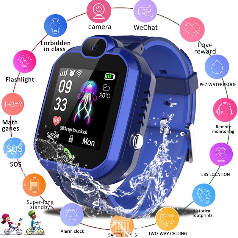 LIGE 2019 New Kid Smart Watch IP67 Waterproof Children Student Smartwatch SOS Emergency Call LBS Positioning Tracker Kids Watch
