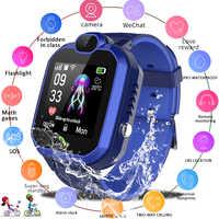 LIGE 2019 nouvelle montre intelligente enfant IP67 étanche enfants étudiant Smartwatch SOS appel d'urgence LBS positionnement Tracker enfants montre
