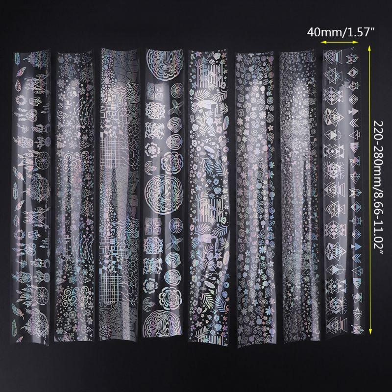 8 8 Pcs/Set DIY Filling Sticker UV Epoxy Resin Crafts Resin Jewelry Making Materials Colorful Reflective Glitter Shiny Handmade