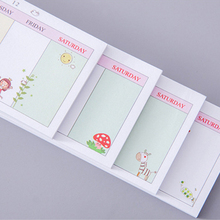 1Pack/lot Long Week Plan N Times Post Sticky Memo Schedule Planner Stickers School Office Papelaria Supply