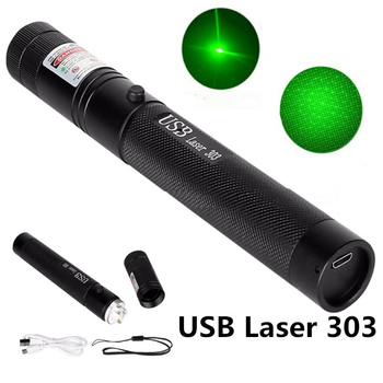 Green Laser Sight Laser USB Charge 303 Pointer Light  532nm 5mw High Power Device Lazer laser Pen Burning powerful 5mw lazer pointer pen burning match green laser 303 laser pointe military 532nm choose usb charging or 18650 battery