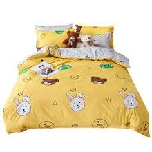 Белый кролик Медвежонок желтые комплекты постельного белья для