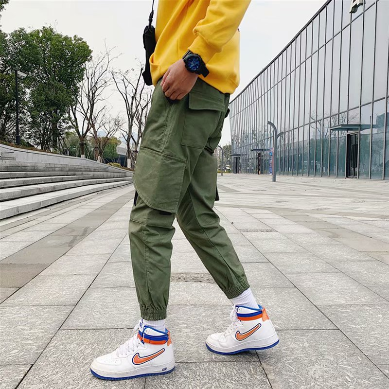 2019 Spring And Autumn New Style National Trends Bib Overall Men Popular Brand Loose Hip Hop Casual Pants Men's INS Ankle Banded