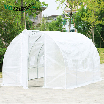 Large Greenhouse Warm Garden Grow Room Iron Stand Garden Shed with Plastic Greenhouse Covers Plant Winter Protection Grow House 1
