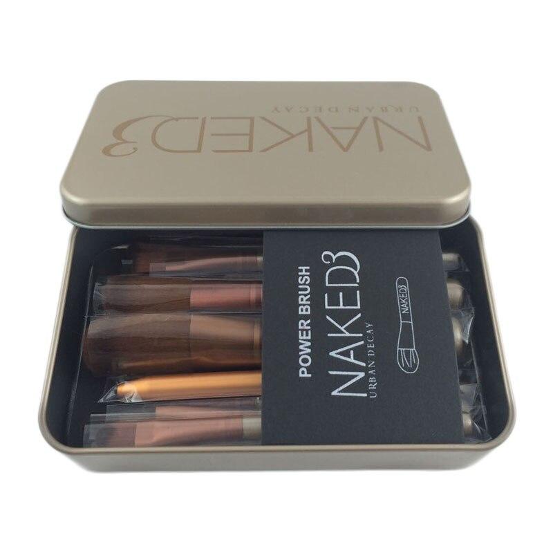 Urban Decay NAKED 3 Makeup Brush Set Eye Shadow Foundation Powder Eyeliner Eyelash Lip Make Up Brush Cosmetic Beauty Tool Kit