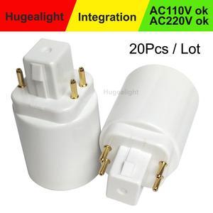 20pcs/lot GX24 to E27 Adapter