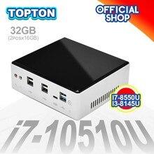 10th Gen 2 Lan Mini PC Intel i7-10510U i5-10310U i3-10110U 2 * DDR4 M.2 NVMe NUC computadora Win10 Pro Linux WiFi tipo-C-DP 4K HTPC