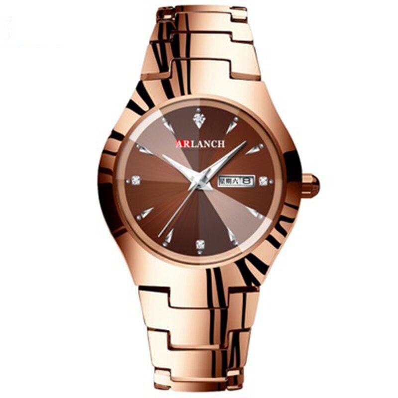 Mens Watches Top Luxury Waterproof Tungsten Steel Couple Quartz Watch Fashion Man Diamond  Watch Erkek Saat Relogio Masculino