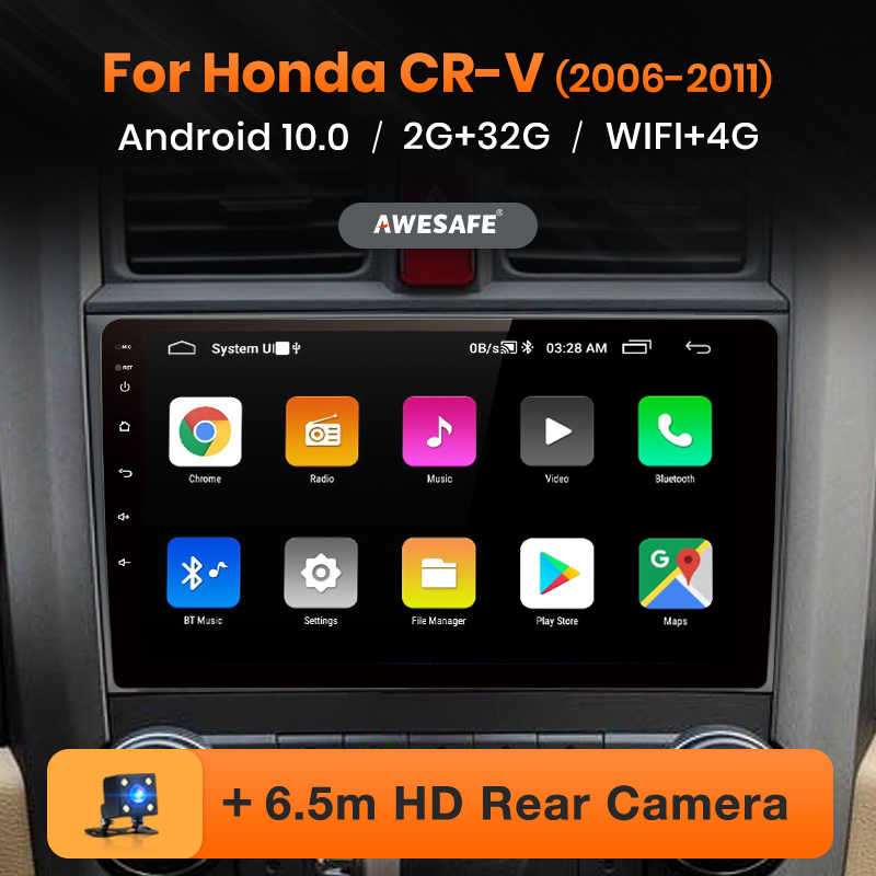 AWESAFE PX9 per Honda CR-V 3 2006-2011 CRV CR V Autoradio Multimedia video player GPS No 2din 2 din Android 10.0 2GB + 32GB