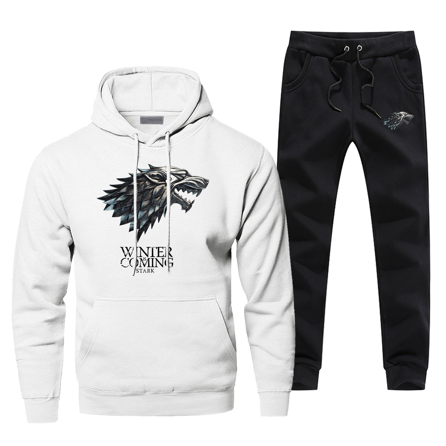 Game Of Thrones Casual Sportsman Wear House Stark Fashion TV Show Pants Warm Sweatshirt Men Winter Is Coming Full Suit Tracksuit