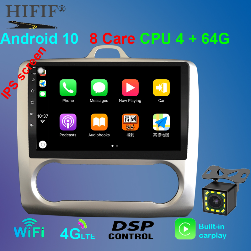 2G+32G Android 10 DSP For <font><b>ford</b></font> <font><b>focus</b></font> 2 <font><b>Mk2</b></font> 2004-2011 Car Radio <font><b>Multimedia</b></font> Video Player Navigation GPS RDS 2 din dvd image