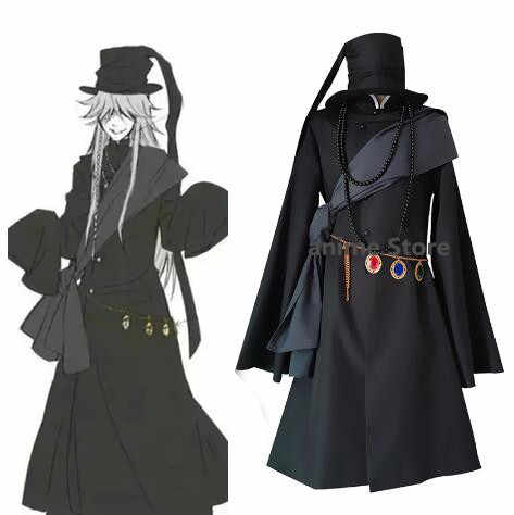 Anime Black Butler Cosplay Kuroshitsuji Undertaker Halloween Party Kostuum Volledige Set Uniform