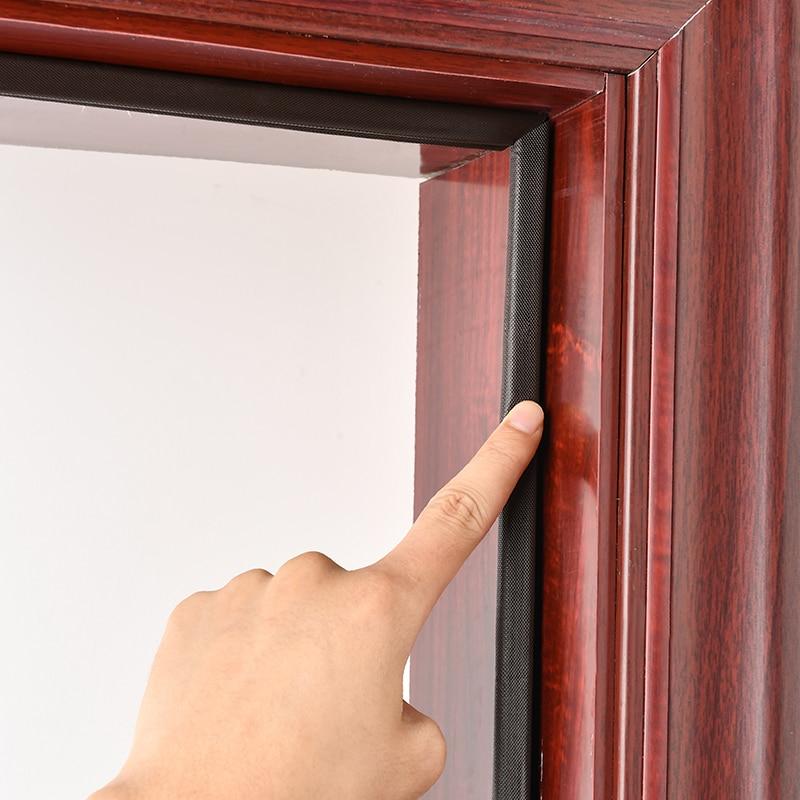 โฟมซีลขอบประตู ป้องกันเสียงรบกวน ซีลติดร่องประตู มีแถบกาว ซีลกันเสียง ซีลขอบหน้าต่าง และซีลช่องประตู Pu Sound Proof 1