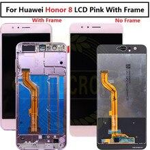 Huawei社の名誉8 lcdディスプレイタッチスクリーンデジタイザHonor8液晶huawei社の名誉8フレームとlcd FRD L19 FRD L09交換