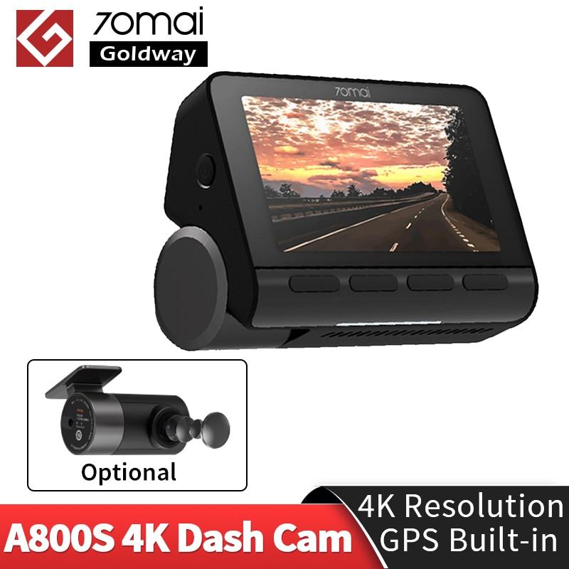 В наличии 70mai Dash Cam A800 двойного видения 4K 140 FOV супер Ночное видение GPS ADAS 24 часа в сутки для парковочной системы DVR Камера 70mai 4k A800S