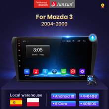 Junsun V1 4G + 64G Android 10 AI commande vocale Radio voiture voiture pour Mazda 3 2006 2004-2009 multimédia Bluetooth GPS Nav