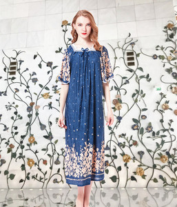 Image 2 - Lato panie bawełna, jedwab długi Plus rozmiar bielizna nocna księżniczka koszula nocna może nosić poza salon wakacje podróży plaży sukienka