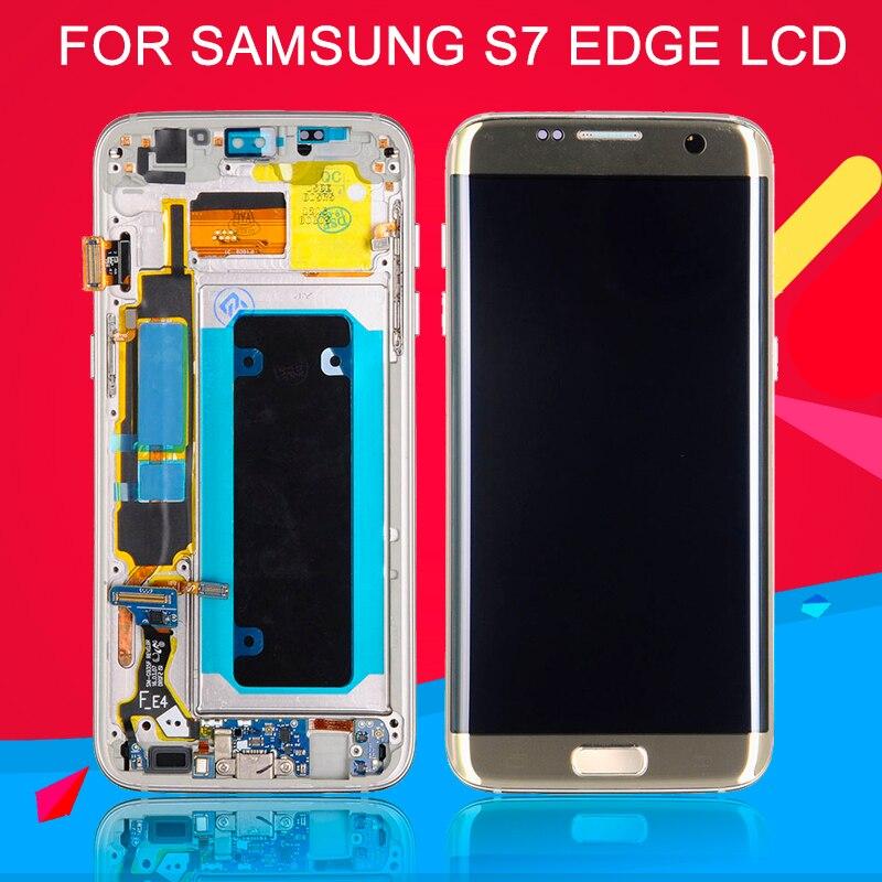 Dinamico OLED G935 Lcd pour Samsung Galaxy S7 bord Lcd écran numériseur assemblée G935F écran tactile avec cadre avec outils