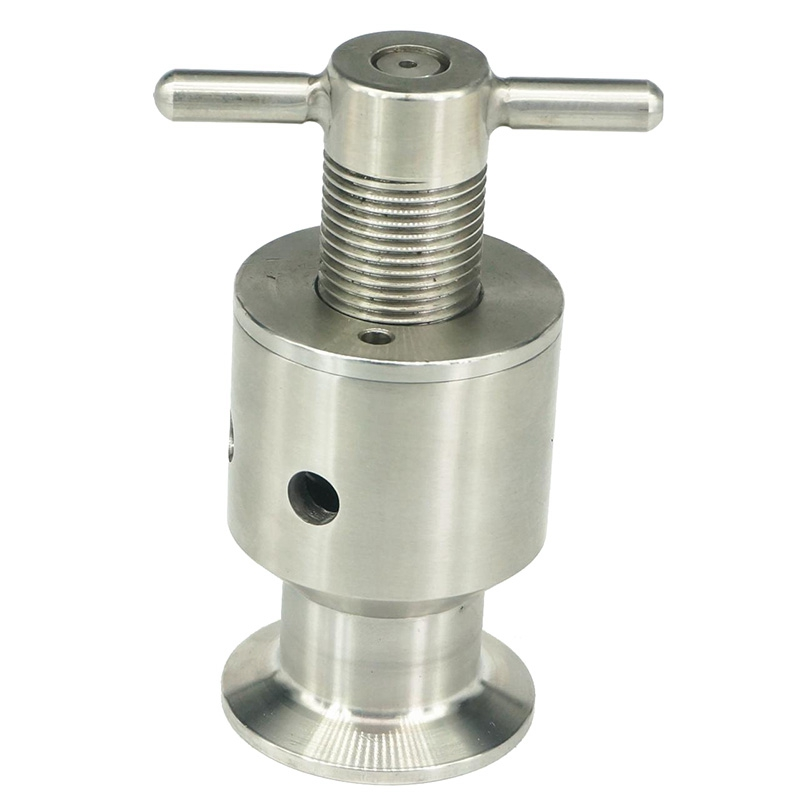 1.5 Inch Three Clamps 0.5-5 Bar Adjustable Overflow Safety Valve Guard Fermenter Pressure Relief Valve