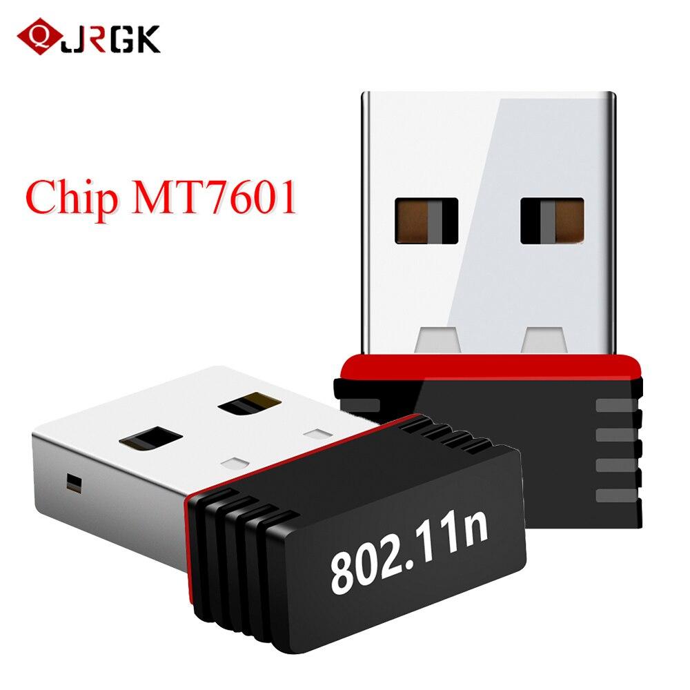 Mini adaptateur Wifi sans fil USB 2.4GHz carte réseau WLAN 802.11n/g/b 150Mbps récepteur WiFi pour PC portable Windows XP