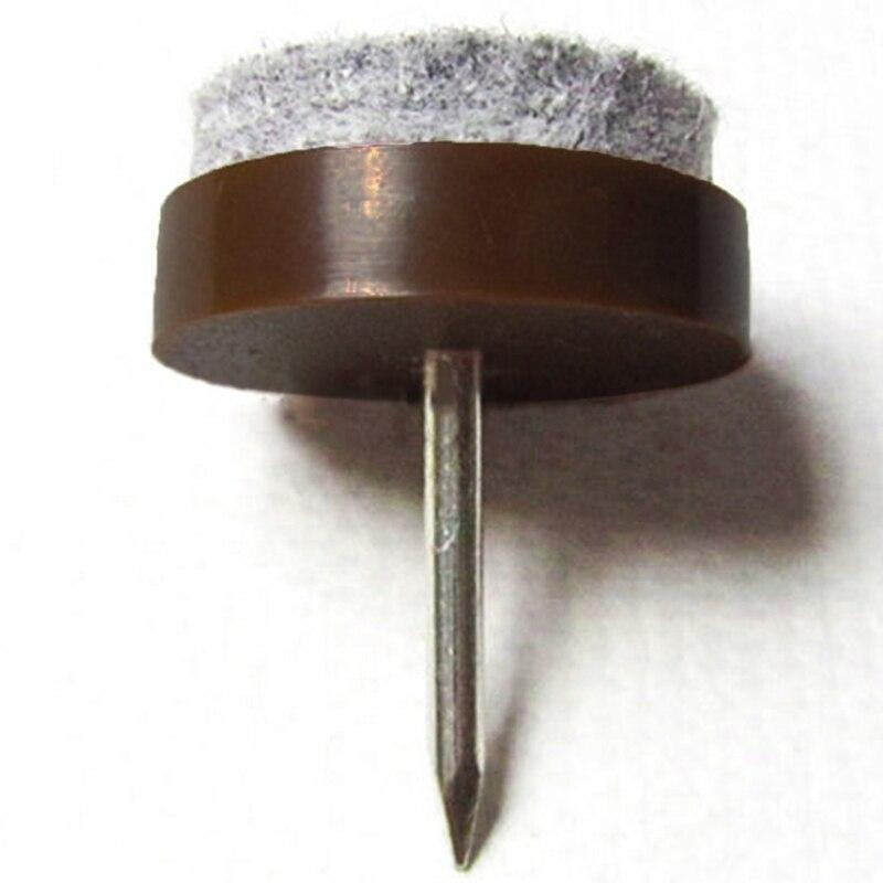 20mm Nail Brown 50pcs A Bag / Furniture Non-slip Feet Felt Pad / Wear Pad / Felt Nail Furniture Parts Bedroom Furniture