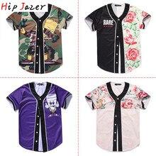 HIPJazer уличные майки с 3D принтом японского аниме мультфильм Мужчины WO мужские бейсбольные майки хип-хоп бейсбольная полосатая рубашка Топы