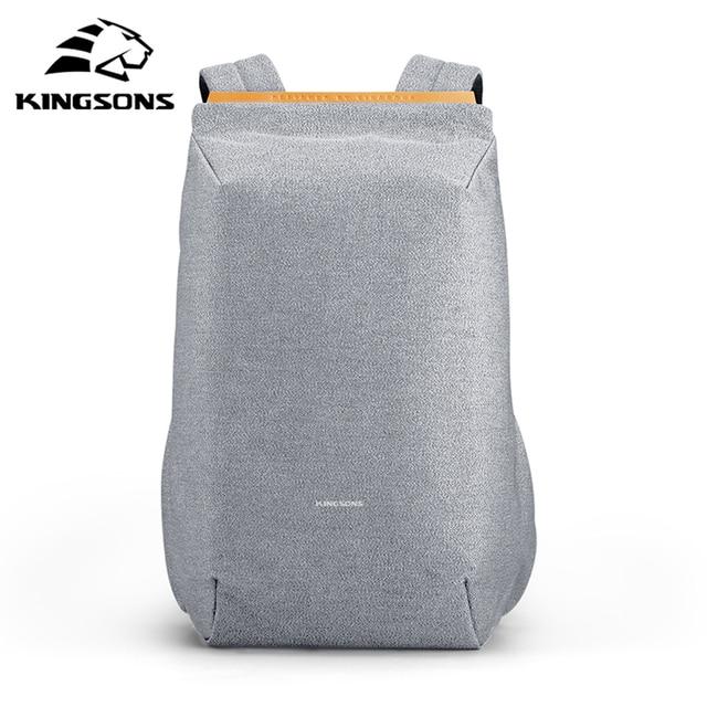 "Kingsons 15.6"" Laptop Backpacks USB Charging Schoolbag Anti-theft Backpack Waterproof Bags for Men Women Mochila рюкзак Hot sell"