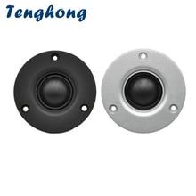 Tweeter 4ohm Speaker Sound 60W Fever Tenghong with Heatsink DIY 25-Core 2pcs Silk-Film