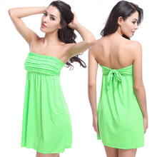 Newest Hot Wholesale Vintage 2020 Mini Ruffles Bandage Dress