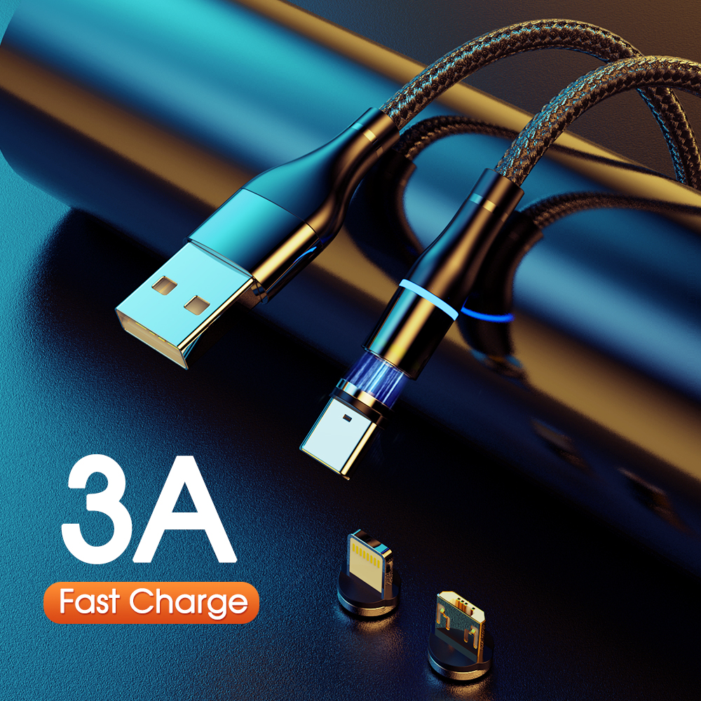 Magnet Charger 3A Magnetic <font><b>Cable</b></font> Micro <font><b>USB</b></font> <font><b>Cable</b></font> Type C <font><b>Cable</b></font> Fast Charging For iPhone Samsung Android Mobile Phone Cord Wire image