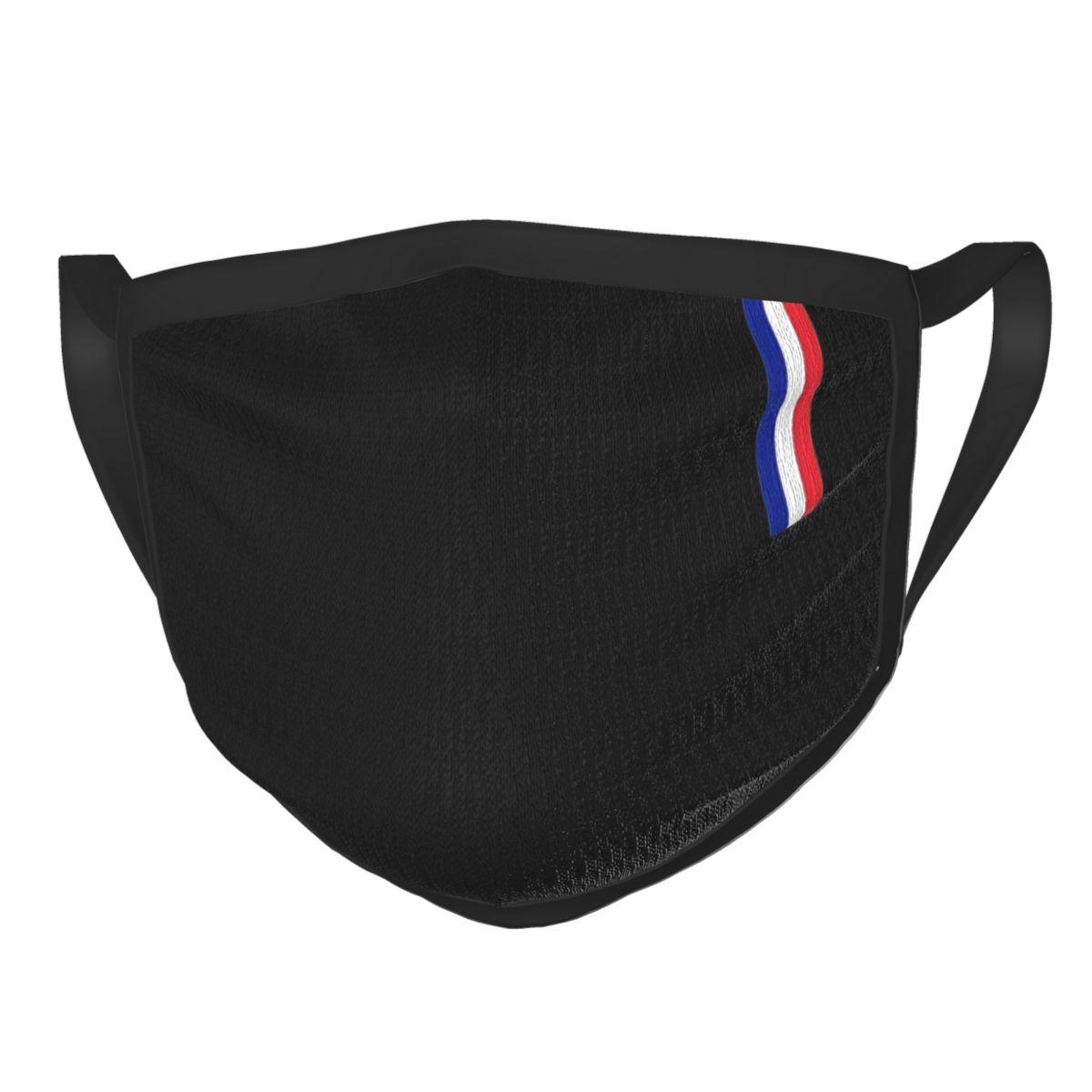 Маска для лица многоразовая с флагом Франции, респиратор для защиты от смога, с французским флагом