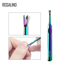 Rosalind 1 Pc Stainless Steel Nail Art Fork Dead Skin Remover Manicure Pedicure Pusher Fork Nail Art Cuticle Remover Nail Tools цены онлайн