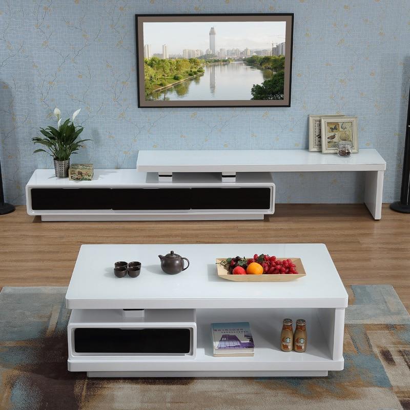 Fabricants vente directe salon moderne minimaliste en verre trempé Table basse blanc Piano finition créative théière Table
