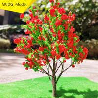 Modelo de árbol de alta calidad, 10cm/12cm/15cm/20cm, bandeja para ARENA, modelo Rojo, árbol a escala N, tren, parque, Paisaje con árbol