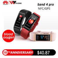 Huawei Fascia 4 pro SmartBand Frequenza Cardiaca Salute Monitor Standalone GPS Proattiva di Monitoraggio Sanitario SpO2 di Ossigeno Nel Sangue