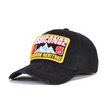 Dsqicond2 брендовая хлопковая кепка с надписью dsq2 черная бейсболка