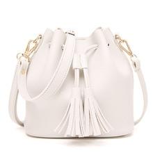 Baggage Girl PU Leather Tassel Bag Euro-American Street Photo Single Shoulder Slant Bag Sequins Star Chain Handbag