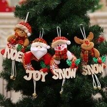 DIY Christmas Hanging Tree Toppers Hanging Decor Pendant Ornaments Snowman Santa Claus Reindeer Xmas Tree Hanging Decorations the hanging tree