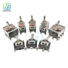 16A 250V Mini Toggle Switch 2 Posisi 3 Posisi 2/3/4/6 Pin Di off On-On On-Off-On 12 Mm Tahan Air Cap(China)