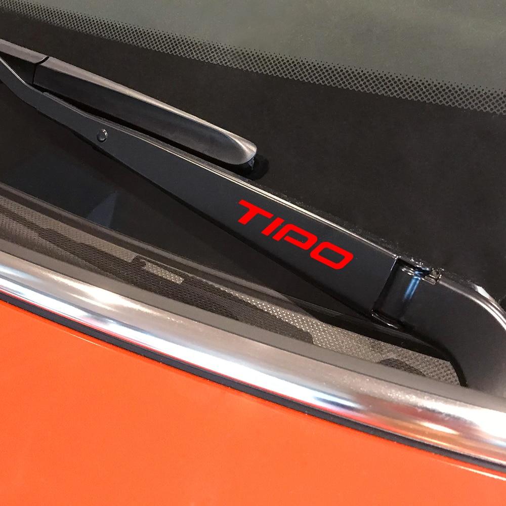 4PCS Car Window Wiper Trim Stickers Auto Reflective Decals For Fiat Tipo Auto Decor Sport Decals Graphical Vinyl Car Accessories