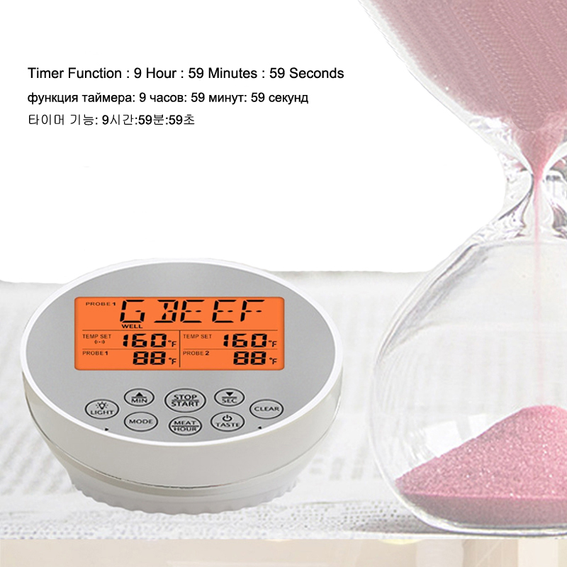 Digital Wireless Food Thermometer for Cooked Food and Grilled Meat with Timer and Temperature Alarm 15