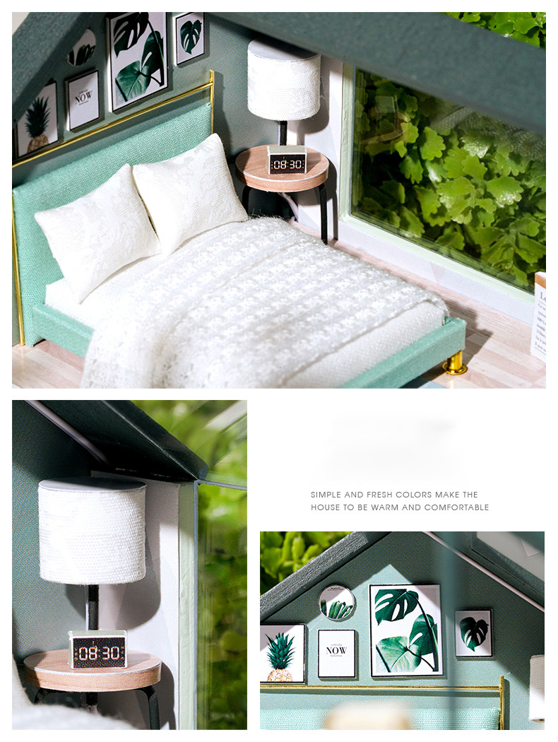 The Peaceful Time DIY Nordic Miniature House (QL 001 Without cover)