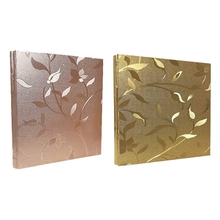 2x Photo Album 4X6 620 Photos Leather Cover for Family Wedding Anniversary Baby Vacation (Champagne Gold/Gold)