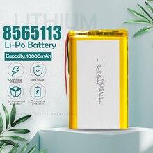 3.7V 10000mAh 8565113 litowo-polimerowy akumulator litowo-jonowy li-po komórki do tabletu DVD GPS urządzenie medyczne PDA E-book