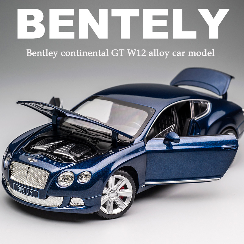 KIDAMI 1:24 Bentley Continental GT Alloy Simulation Car Model Collection Decoration Car Model Children's Toy Car Model