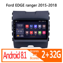 autoradio android auto 2 32G for Ford Edge Ranger 2015 2016 2017 2018 car radio coche audio 1 din navigator carplay multimidia(China)